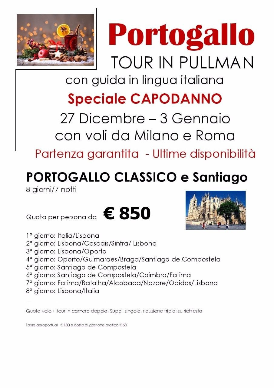 Tour in pullman del PORTOGALLO