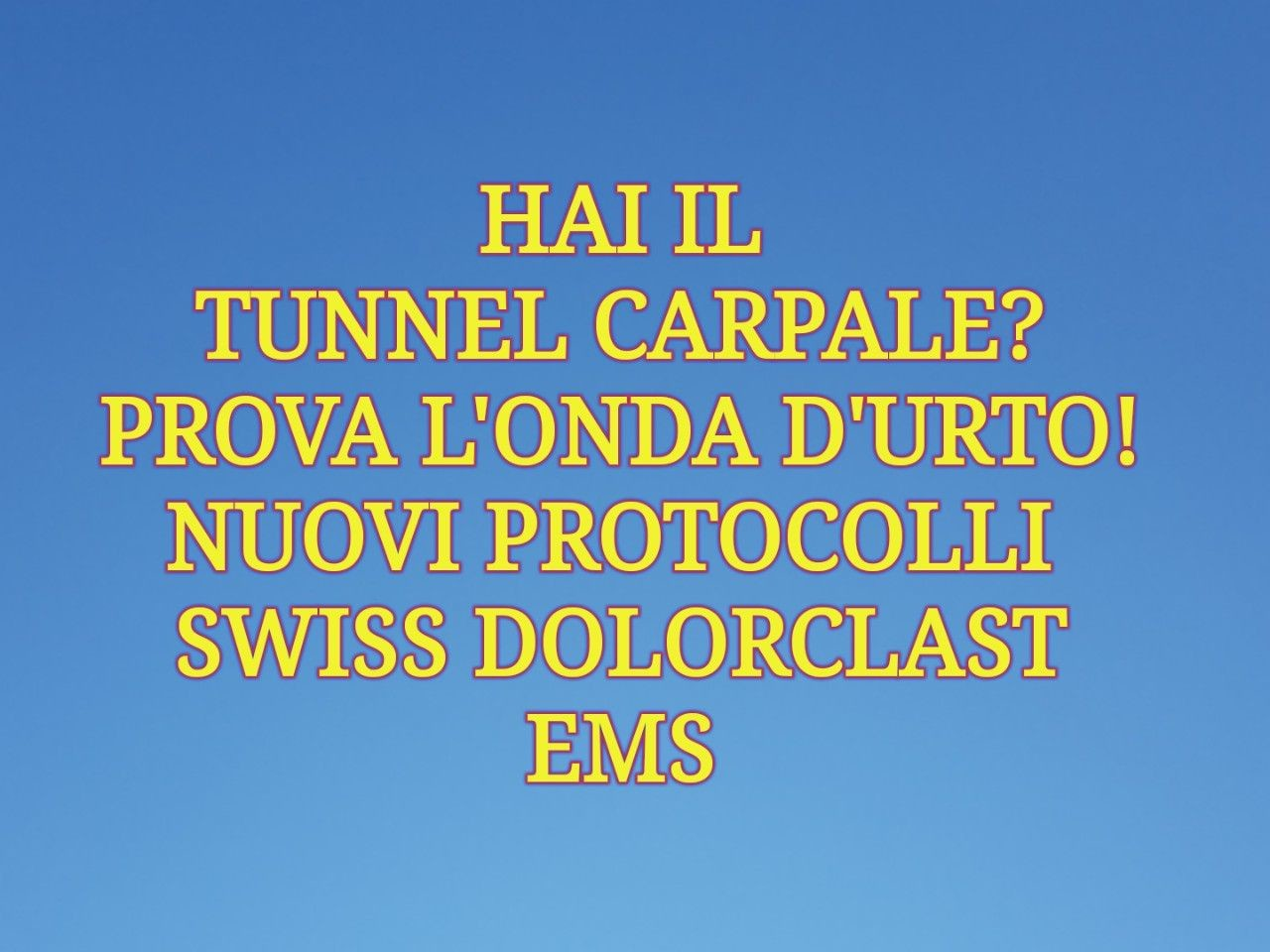 TUNNEL CARPALE news 1