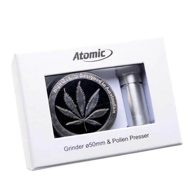 ATOMIC SET GRINDER TRITATABACCO 4 PARTI IN METALLO 1