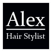 Alex hair stylist logo