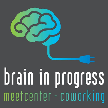 Coworking Brain in progress logo