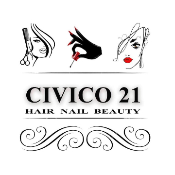 Civico 21 hair nail beauty logo