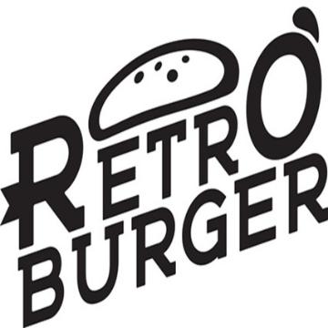 retro burger logo