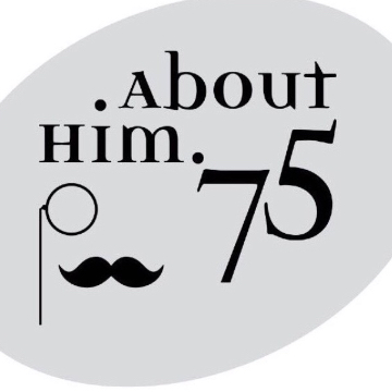 ABOUT HIM 75 logo