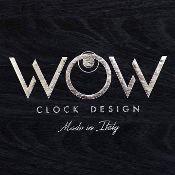 Wow  clock design logo
