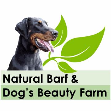 natural barf & dog's beauty farm logo